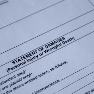 legal form for filing for punitive monetary damages